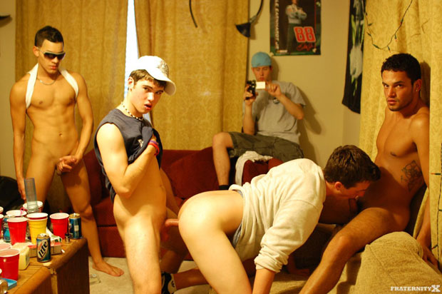 Watch Ethan, Myles, Jose and Bently have bareback sex at FraternityX
