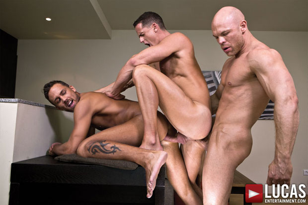 Marco Milan, Ivan Gregory and Logan Moore - LucasEntertainment.com