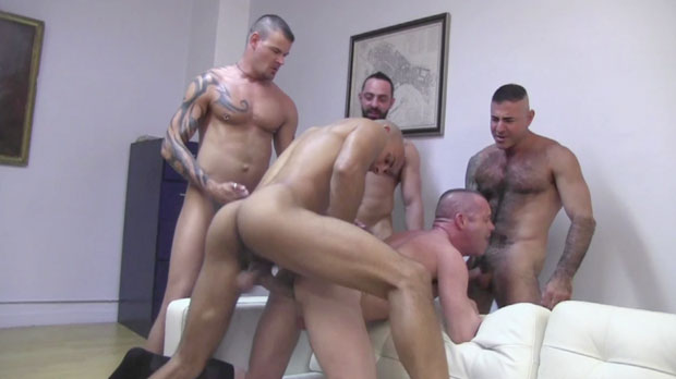 Antonio, Luca, Nick, Derrick and Patrick - RawFuckClub.com
