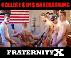 Horny College Guys Barebacking - FraternityX