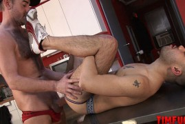 Sexy Stud with an Extra Large Cock Uses His Dick for Raw Pleasure