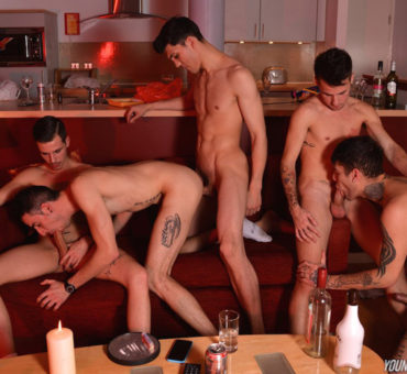 Young Bastards Now Features Bareback Porn Including this Partyboi Breeding Scene