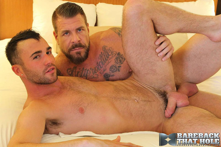 Watch Rocco Steele and Alex Mason barebacking at Bareback That Hole