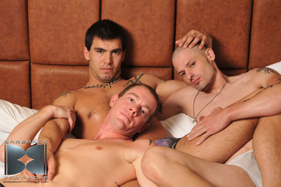 Sage Daniels, Trevor Tryst and Shane Stone - Bareback That Hole