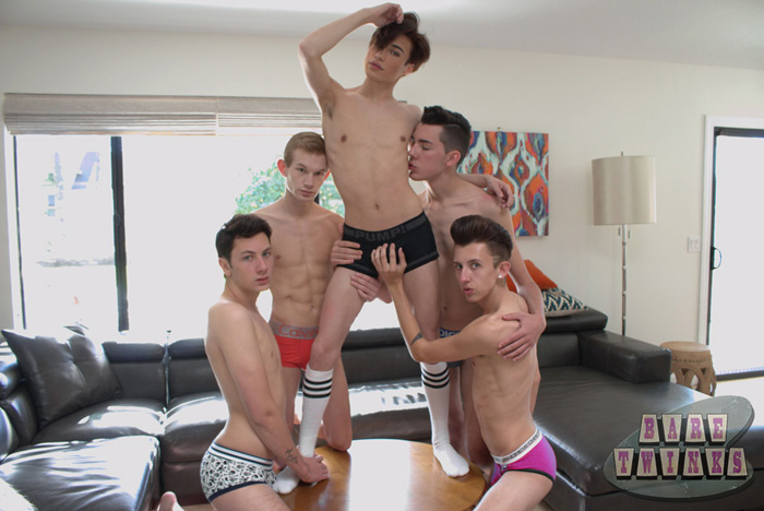 Blake Anderson, Connor Jacobs, Greco Rai, Trey Ryan and Kyler Rex - Bare Twinks