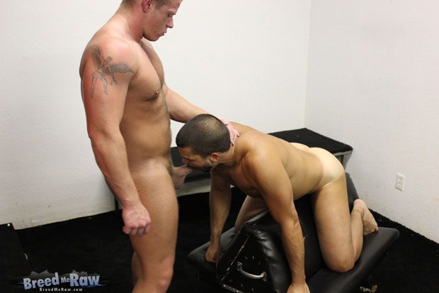 Watch Justin Jameson and Danny Lopez have bareback sex at Breed Me Raw