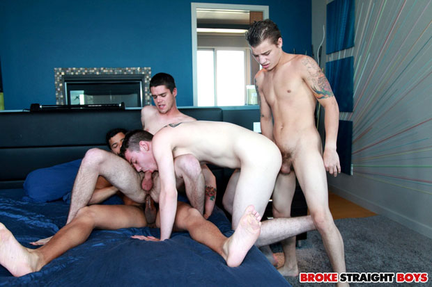 Tyler White, Ryan Fields, Skyler Daniels and Kaden Alexander - BrokeStraightBoys.com