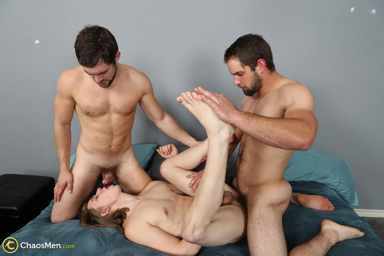 Watch Ares, Glenn and Griffin barebacking at ChaosMen