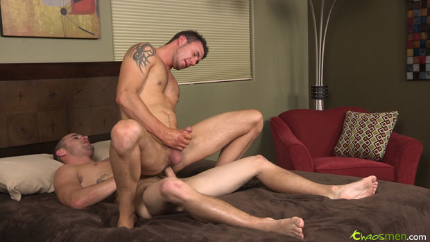 Watch Aries and Jet have bareback sex at ChaosMen