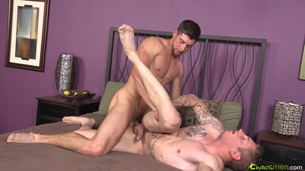Watch Chaz and Troy have bareback sex at ChaosMen