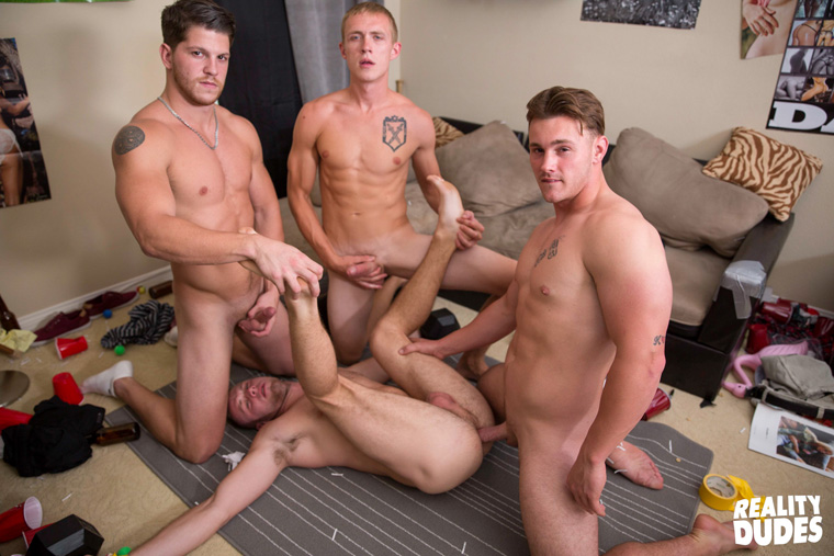 Trevor Long, Brandon Evans, Ashton and Zane Anders - Dick Dorm | Bareback