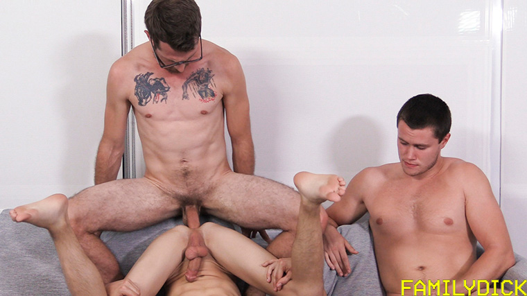 Jacob Armstrong, Austin Armstrong (Austin Lock) and Jeff Armstrong (Damien Nichols) - Family Dick