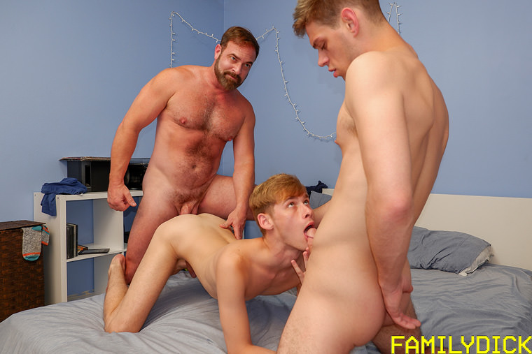 Kristofer Weston, Oliver Star and Michael DelRay - Family Dick