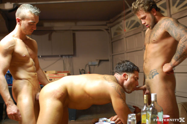 Watch Grant, Carter and Benny have bareback sex at FraternityX