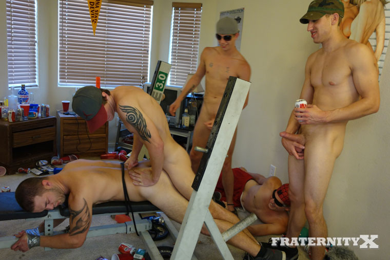 Watch Troy, AJ, Ryan, Marc and Toby having bareback sex at FraternityX