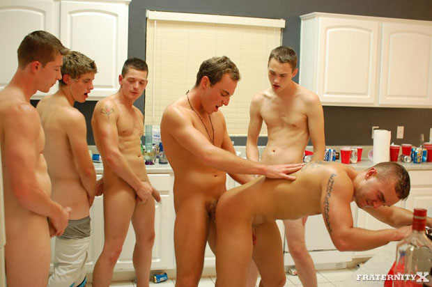 Watch Angelo, Will, Jansen, Grant, Shawn and Kevin have bareback sex at FraternityX