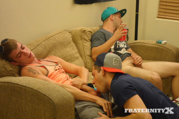 Watch Troy, Liam, Ryan, Marc, Jay and Tony have bareback sex at FraternityX