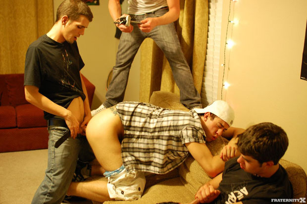 Watch Anthony, Ethan, Myles, Bently and Seth have bareback sex at FraternityX
