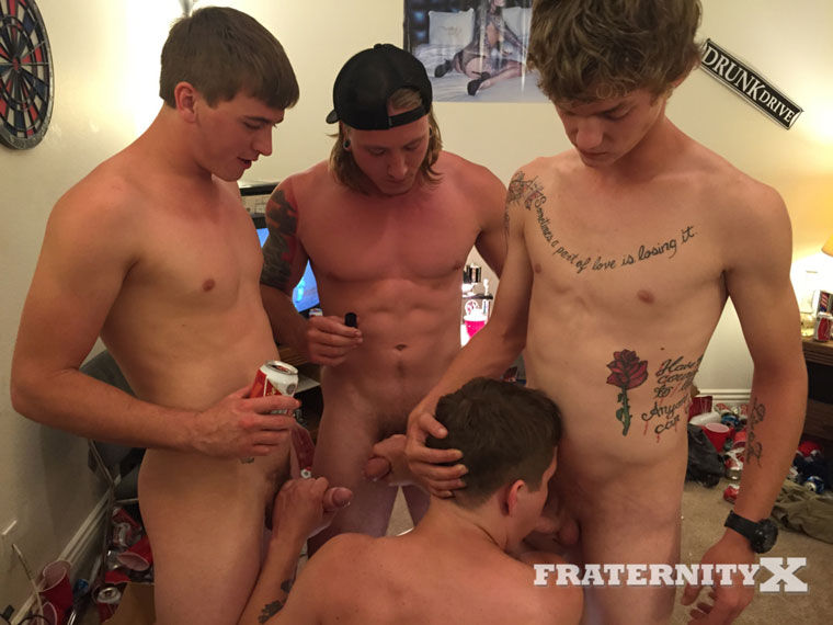 Watch Tyler, Tom Faulk, Alex and Damion barebacking at FraternityX