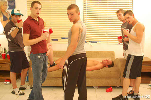 Watch Kevin, Shawn, Grant and Angelo have bareback sex at FraternityX