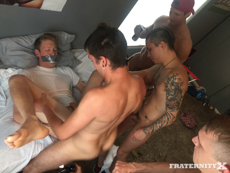 Rod Peterson, Gauge Xander, Russell, Damien Hyde, Caleb Nash and Seth Knight - FraternityX