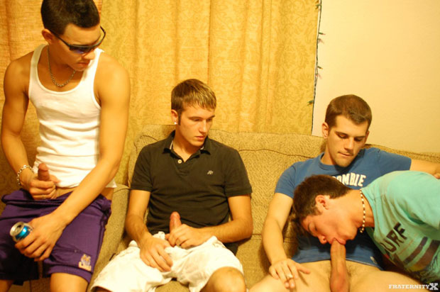 Watch The Initiation have bareback sex at FraternityX