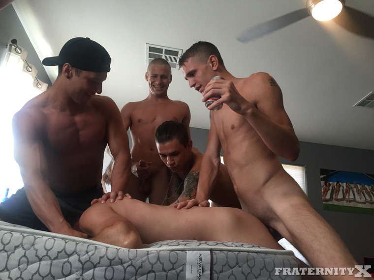 Rod Pederson, Gauge Xander, Russell, Damien Hyde and Seth Knight - FraternityX