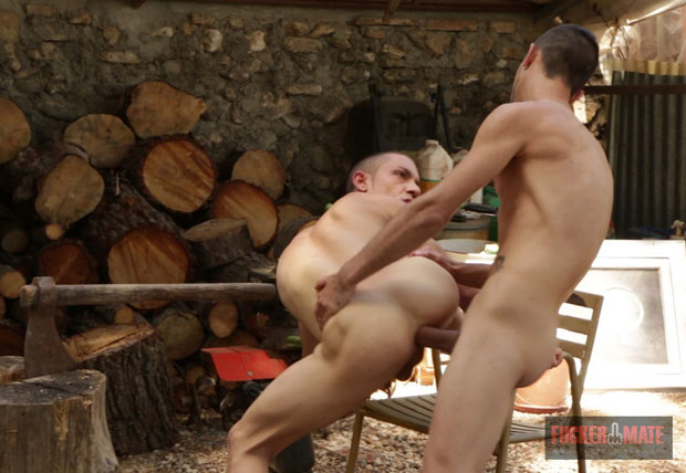 Watch Adam Risso and Javi Mendez have bareback sex at Fuckermate