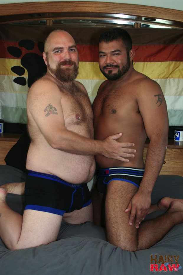 Watch DJ Russo and Rico Vega have bareback sex at Hairy and Raw