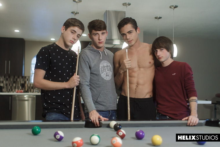 Joey Mills, Cole Claire, Cameron Parks and Ashton Summers - Helix Studios
