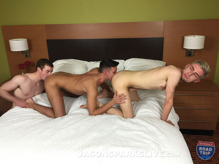 Watch Damon Archer, Zach Lockhart and Trent Tyler barebacking at Jason Sparks Live