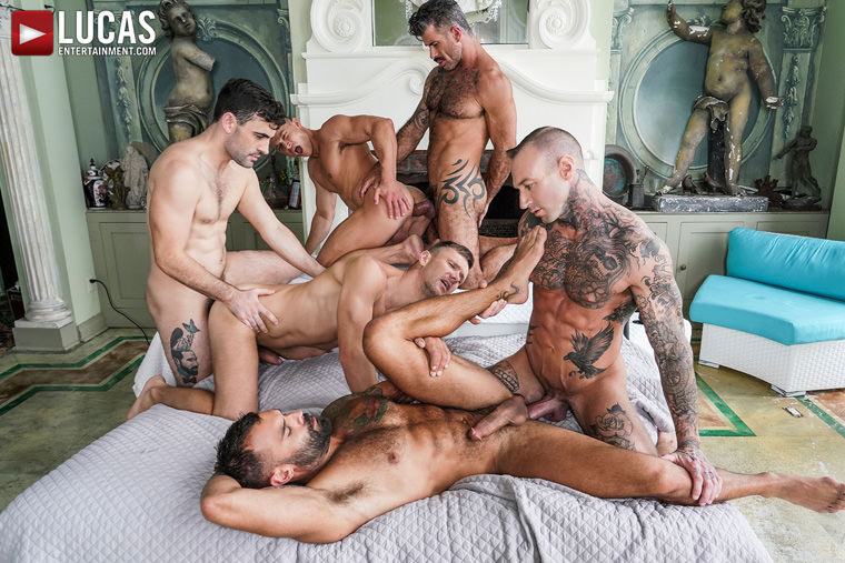 Dylan James, Drake Masters, Max Arion, Ruslan Angelo, Andrey Vic and Adam Killian - Lucas Entertainment