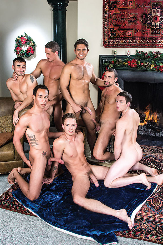 Tanner Bradley, Nigel Banks, Dato Foland, Santiago Figueroa, Lucas Knight, Ivan Gregory and Donnie Dean - LucasEntertainment.com