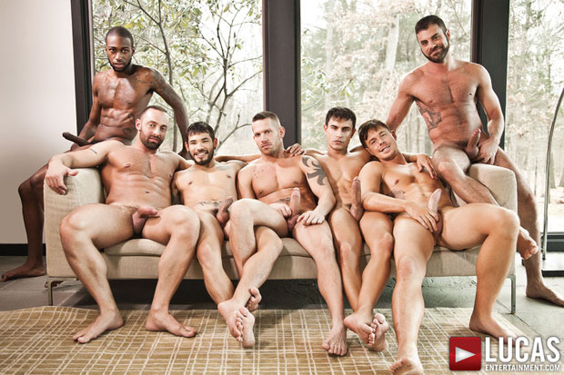 Watch Jed Athens, Draven Torres, Shane Frost, Marcus Isaacs, Rafael Carreras, Hotrod, and Fabio Stallone have bareback sex at Lucas Entertainment
