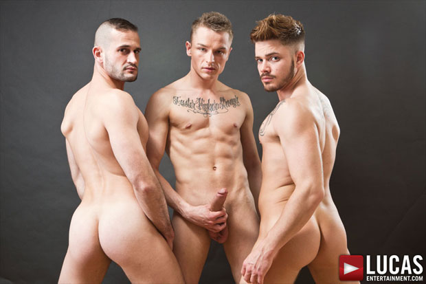 Watch Fabio Lopez, Raff Owen and Mike Tiger have bareback sex at Lucas Entertainment