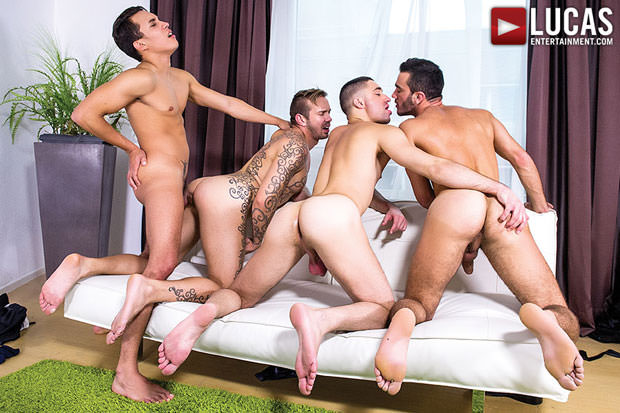 Joey Pele, Alejandro Alvarez, Esteban Nice and Brice Farmer - LucasEntertainment.com