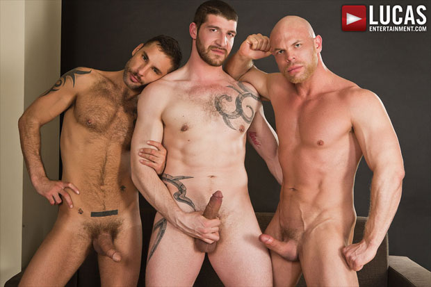 Watch Jonathan Agassi, Jeff Stronger and Marco Milan have bareback sex at Lucas Entertainment