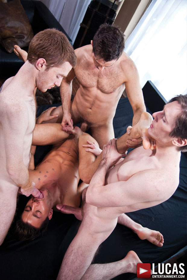 Michael Lucas, Seamus O'Reilly, Seth Roberts and Dirk Wakefield - LucasEntertainment.com