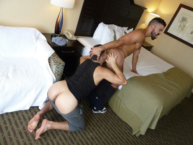 Watch Gio, Cole and Hunter have bareback sex at Maverick Men