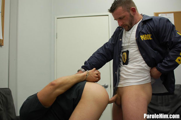 Watch Dominic Sol and Officer Black have bareback sex at Parole Him