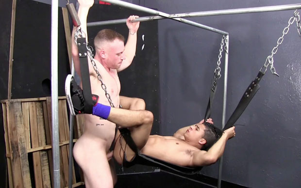 Watch Saxon West and Armond Rizzo have bareback sex at Raw Fuck Club
