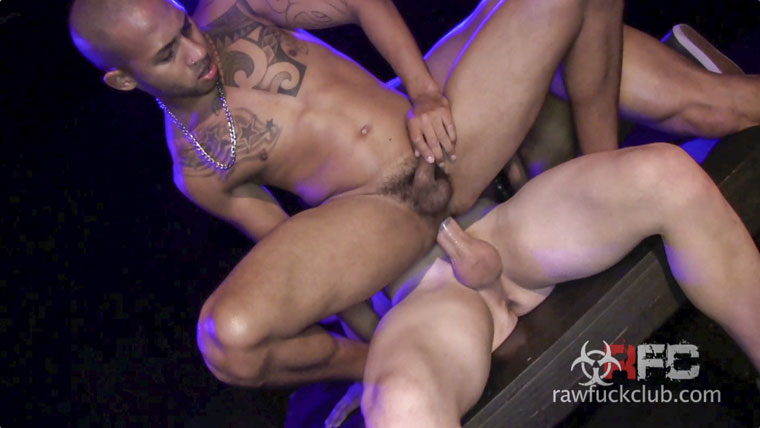 Watch Saxon West, Romero Santos and Xavier Arroyo barebacking at Raw Fuck Club