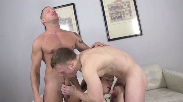Watch Shane Frost, Aaron Summer and Saxon West have bareback sex at Raw Fuck Club