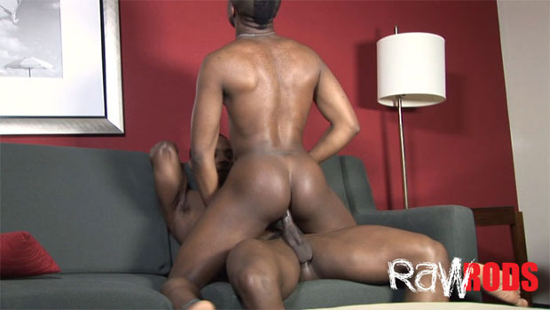 Watch DeAngelo Jackson and Isaiah Foxx have bareback sex at Raw Rods