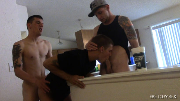 Trent, Scotty, Josh, Jay and an Unknown Guy - SketchySex.com