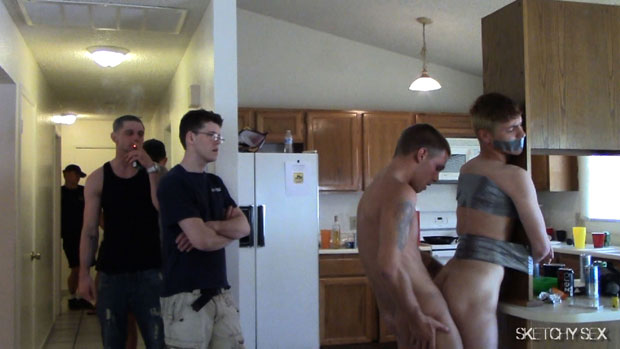 Watch Dakota, Trent, Josh, Scotty and Unknown Guys have bareback sex at Sketchy Sex