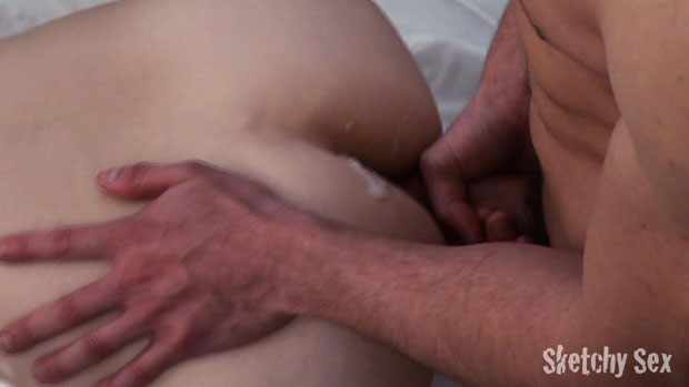 Watch Casey, Josh, Landon and an Unknown Guy have bareback sex at Sketchy Sex