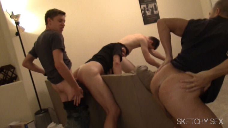 Watch Eli, Jacques, Drake, Cadence, Andrew and Jake having bareback sex at Sketchy Sex