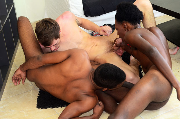 Watch Alex Mendez, Billy Ricardo and Lucas Owens have bareback sex at Staxus