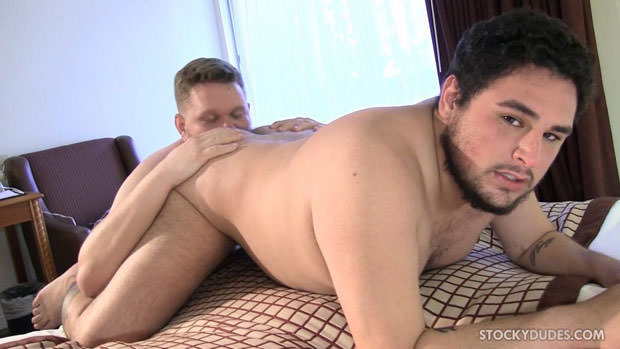 Watch Elias Brant and Taylor Loft have bareback sex at Stocky Dudes